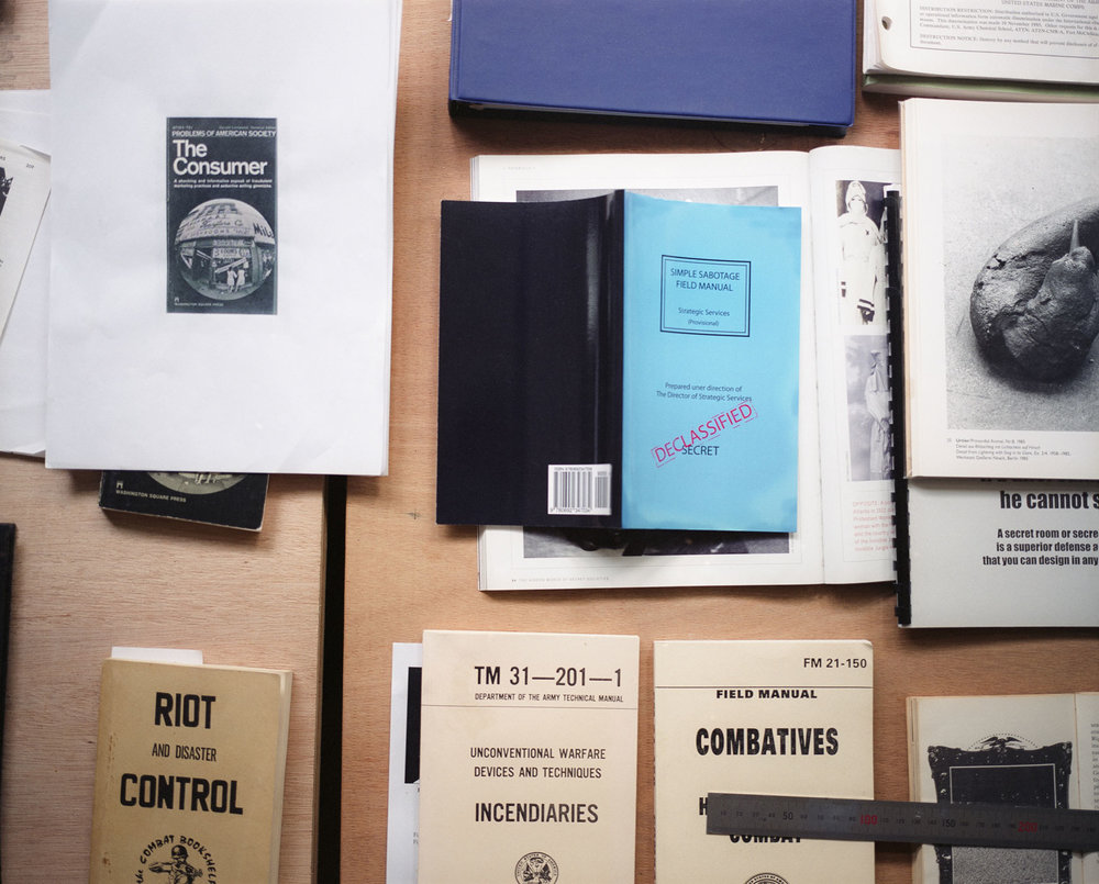 A selection of research material at the studio © Gui Martinez for Collecteurs Magazine