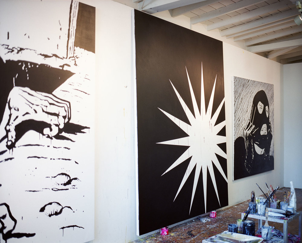 Works in progress at Einarsson's studio © Gui Martinez for Collecteurs Magazine