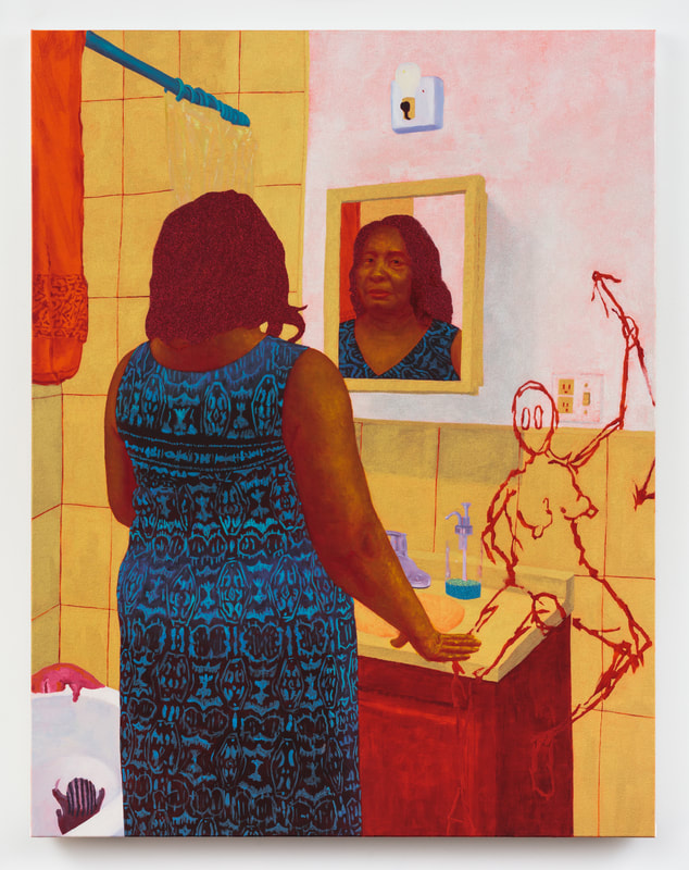 Rachel Uffner Gallery - 170 Suffolk Street, New York, NY 10002Showing: Arcmanoro NilesArcmanoro Niles \ How Much of My Mother Has My Mother Left in Me, 2018