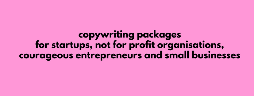 small business copywriting packages
