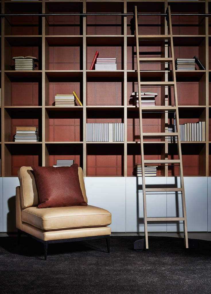 Zuster Bookshelves and Library Ladder