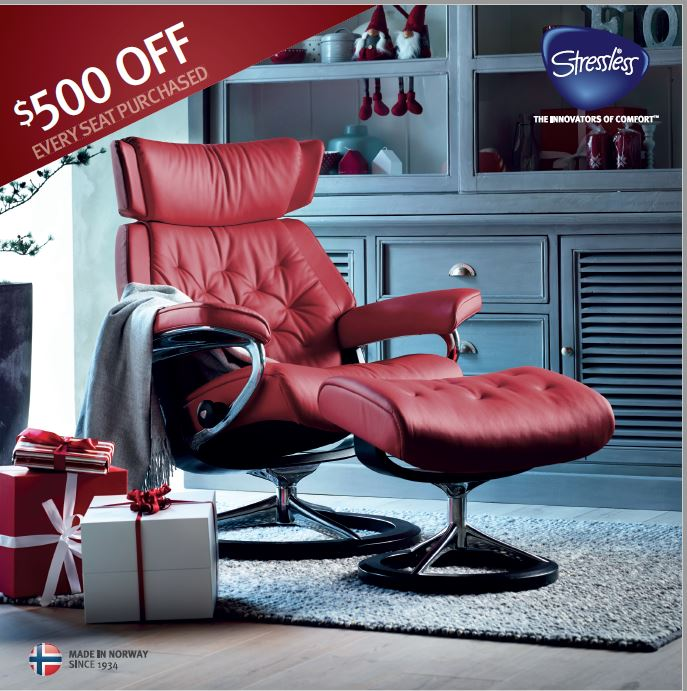 Nothing cultivates the optimal seating environment quite like the reliable support found in Stressless® recliners. The patented Stressless® Plus™ System - a functional skeleton of springs, interprets your body's movements as you change positions to provide increased lumbar and neck support which synchronises smoothly as you recline in perfect balance.