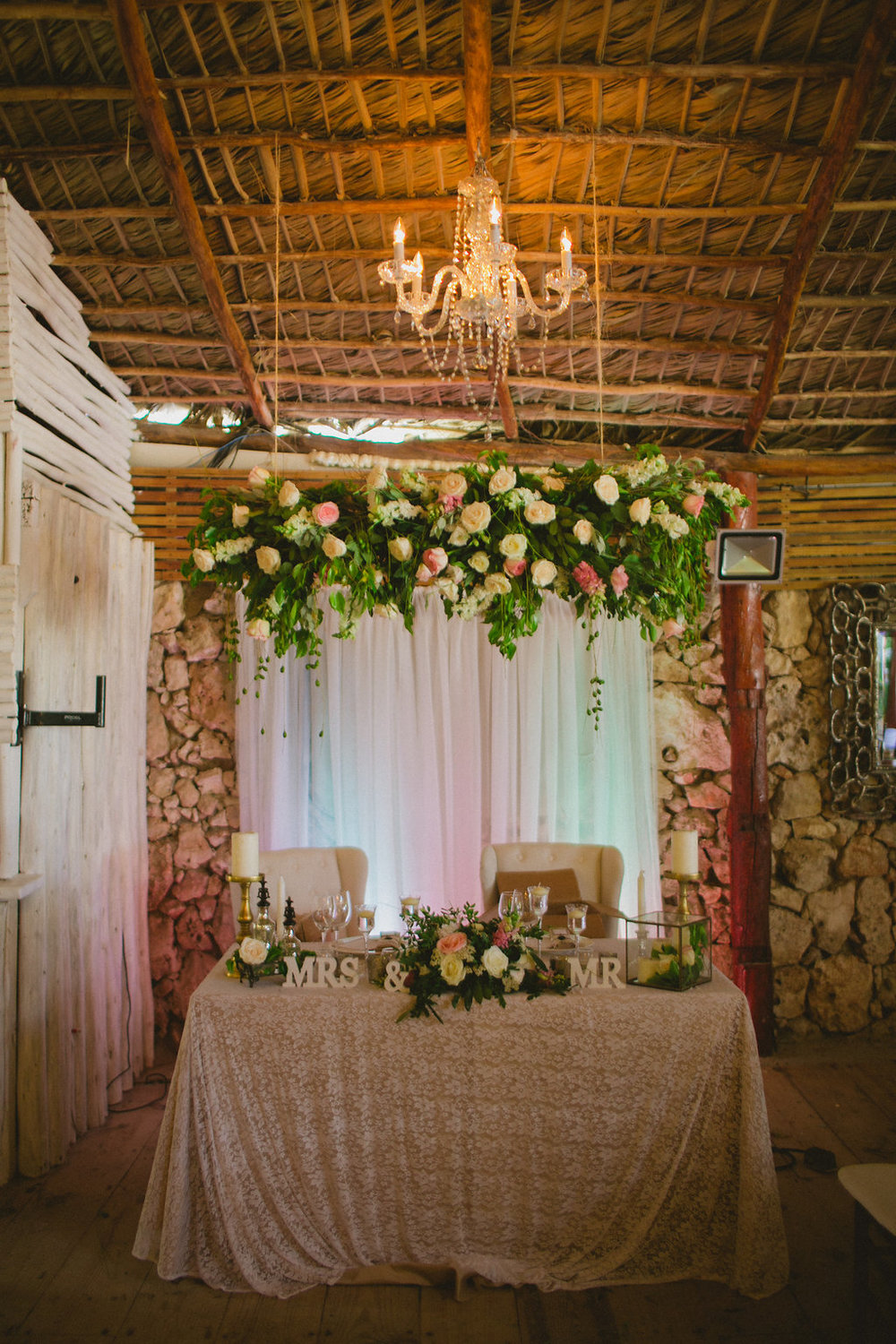Lori & Ross, April 8, 2016 Decor by Natalia Roldan Venue: Huracan Cafe Photo by  Katya Nova