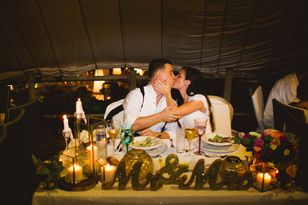 Karla & David, November 7, 2016 Venue: Jellyfish Restaurant  Punta Cana, Dominican Republic Photo by:  Katya Nova