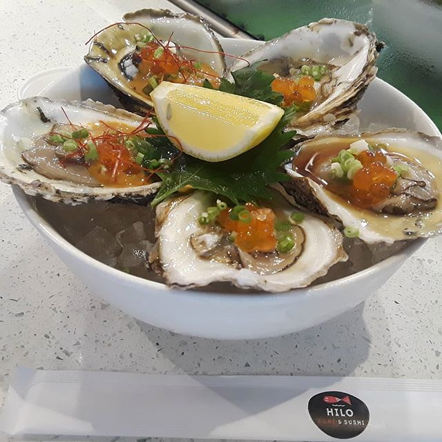 Special fresh oysters this week. Serve daily @hilo_pokesushi