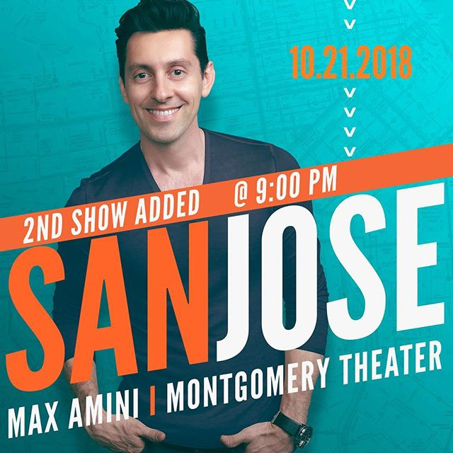 2nd show added SAN JOSE! Oct 21st! See ya x