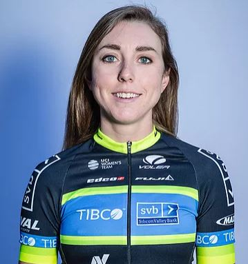 Kate Buss - Team TIBCO-SVB - Kate found cycling through triathlon and is in her second season as a professional. Kate thrives on tough climbs and races of attrition.