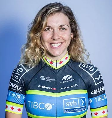 Alison Jackson - Team TIBCO-SVB - Sprinter, all-around rider and yoga enthusiast, Alison has represented Canada at the UCI World Championships and finished on the podium at prestigious races around the world