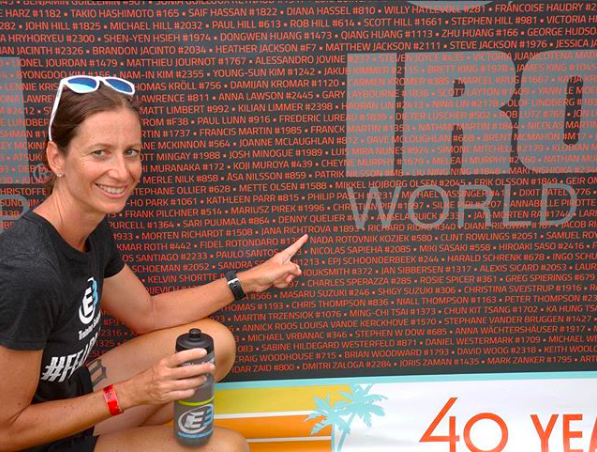 Jana at the Ironman World Championships in Hawaii.