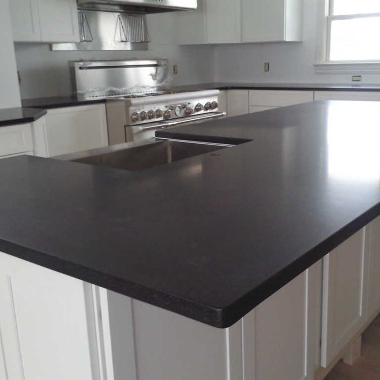 U0027Absolute Blacku0027 Honed Or Leathered Countertops
