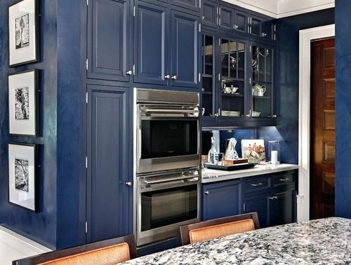If the kitchen is big, blue makes a bold statement without taking over. Try using it with Turbine Gray Caesarstone.