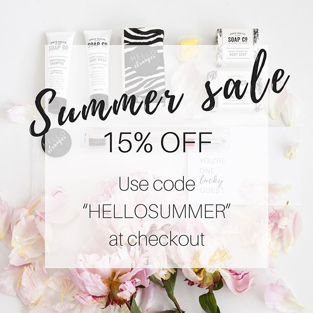 "WE'RE ON SALE 💲 15% off all stock online now - use the code ""HELLOSUMMER"" at check out. Until 17 December 17. While stocks last!"