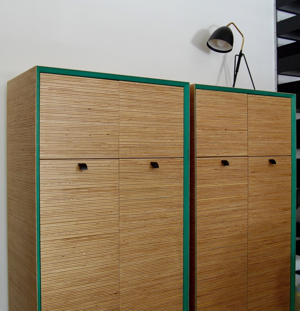 Plexwood mounted on coloured MDF offers design diversity