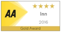 AA four star award for accommodation - Gold Award