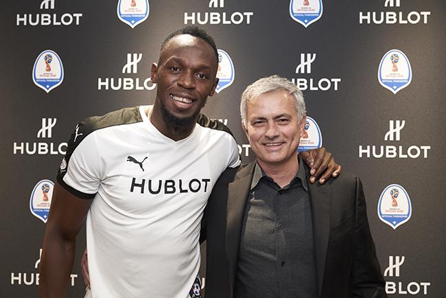 Usain Bolt, Jose Mourinho.jpg
