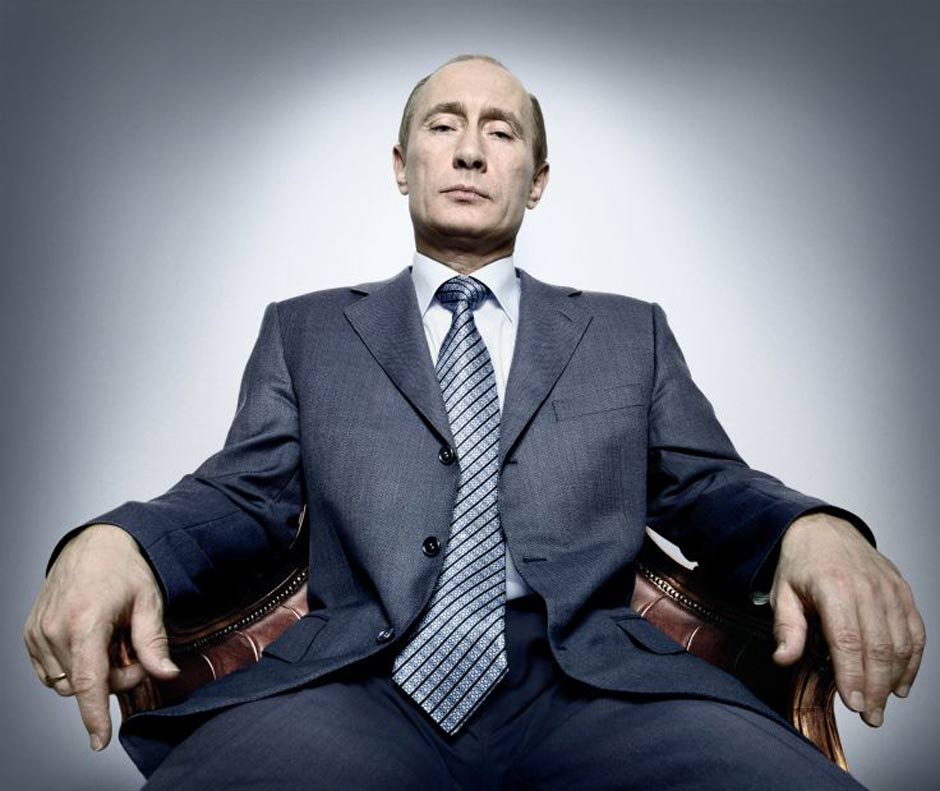 President Putin by the photographer Platon