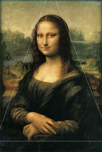 The Mona Lisa showing a traingular composition