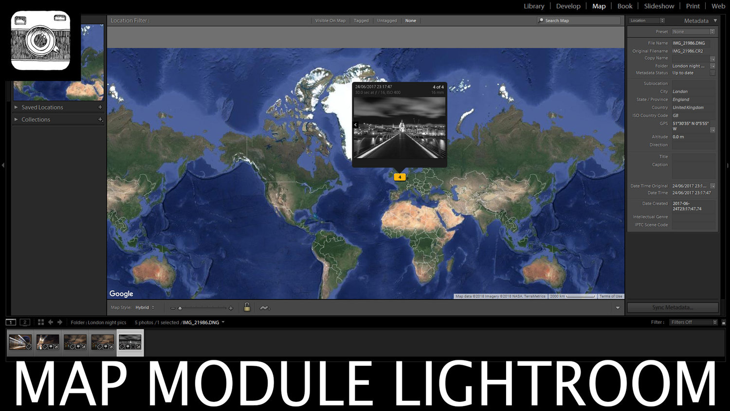 Map Module in Lightroom – In Depth Tutorial