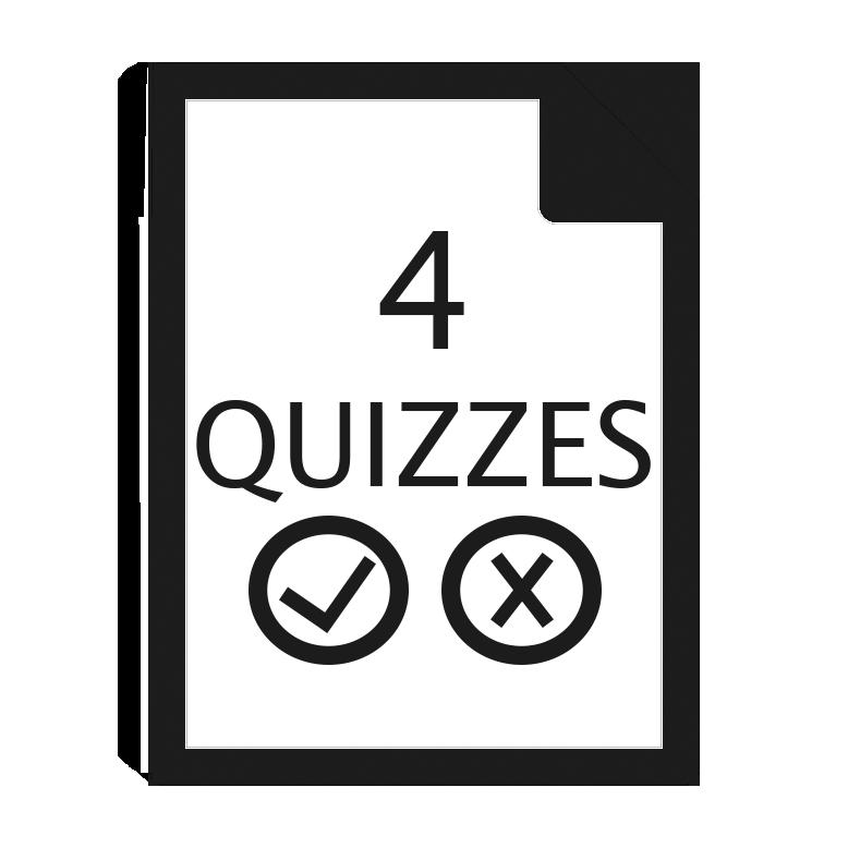 4 quizzes