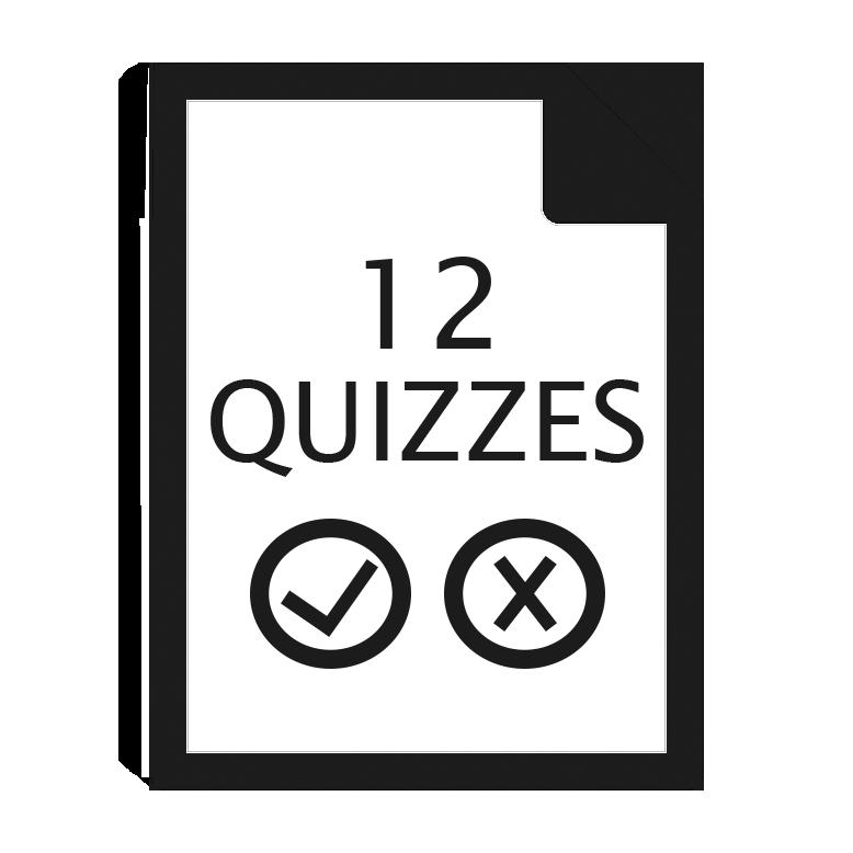 12 quizzes