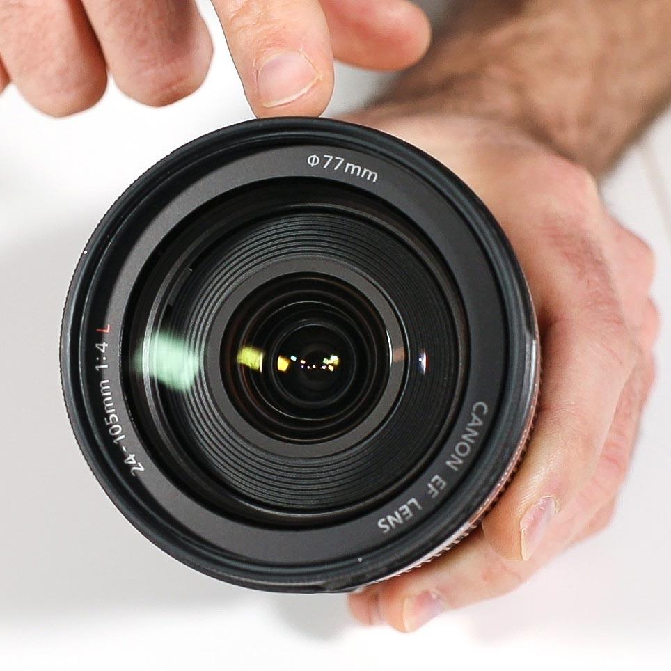 To fit a 77mm diameter lens