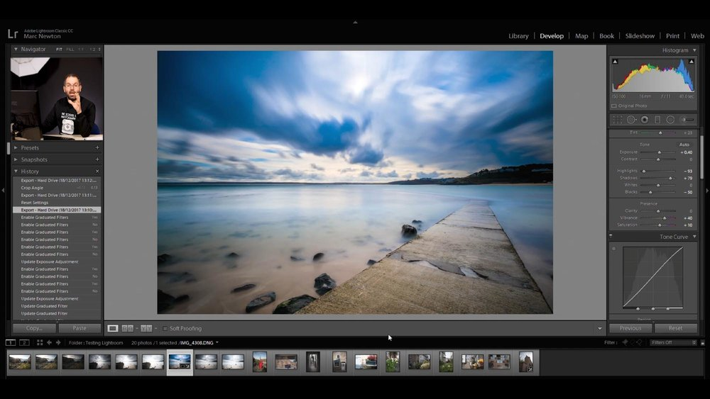 Lesson 5 – Develop module - The Develop Module is where the magic happens! Here you'll learn, in depth, how to post process your pictures using all the powerful tools Lightroom provides.