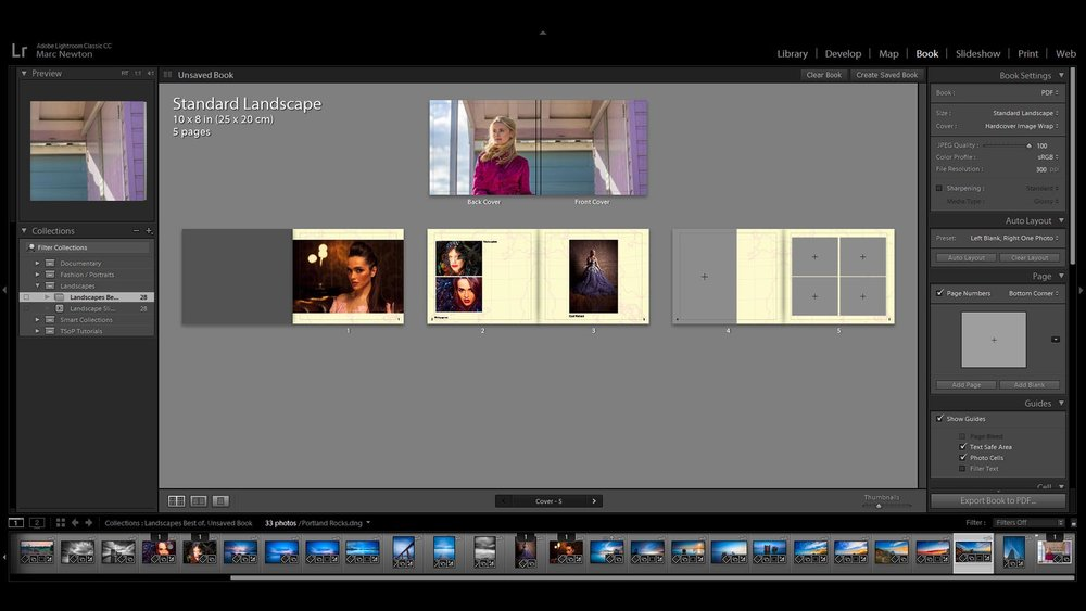 Lesson 16 – Book Module - Lightroom gives you option to create books of your photos and export them direct for print which is great option for wedding or travel books. Here we look at how to create and export them in different formats.