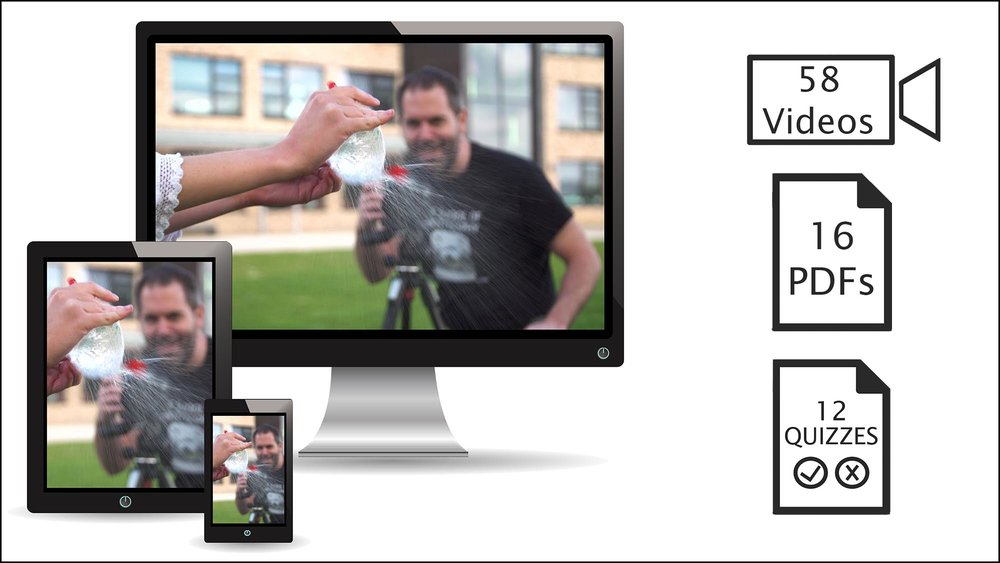 Downloadable course content - We're with you through this journey, from computer to shoot. Watch the videos, anywhere, anytime and download the PDFs to take with you on location.