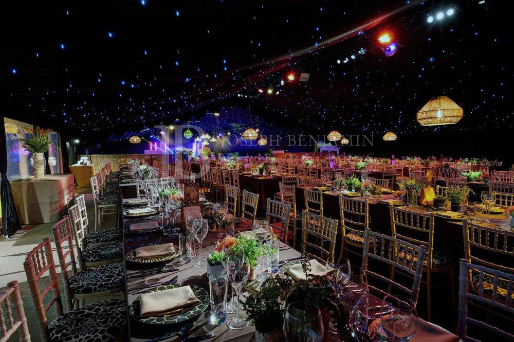 Interior of Raised Floor Wedding Marquee Oxfordshire