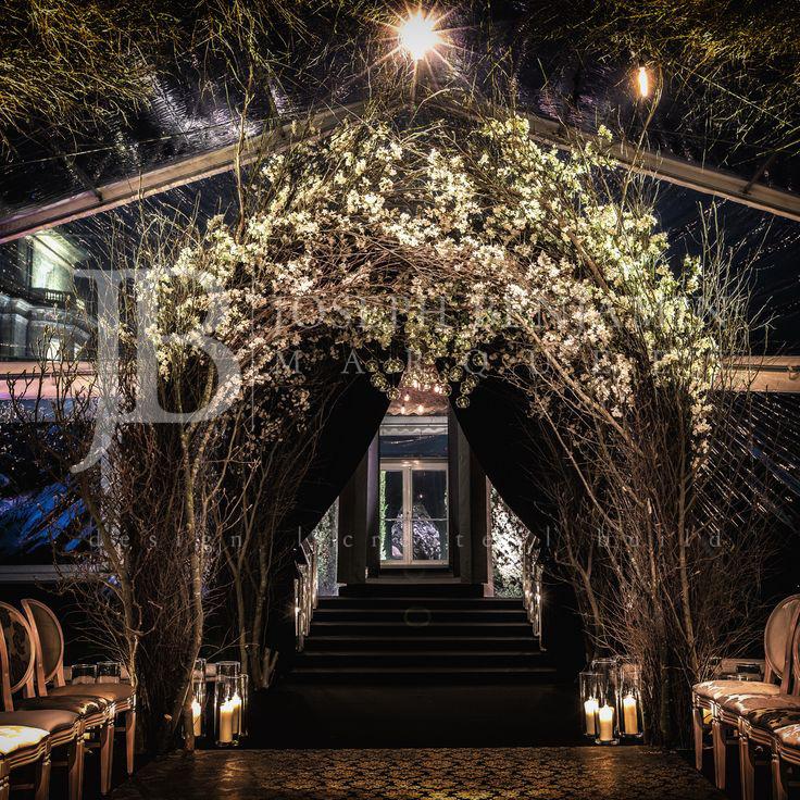 Wedding Marquee Floral Entrance