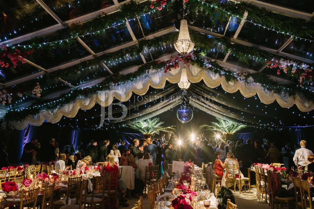 Wedding Marquee Interior from Joseph Benjamin Marquees