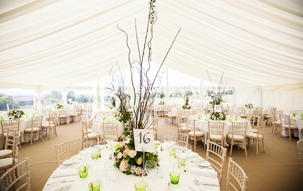 Wedding Marquee Interior Decorated Tables
