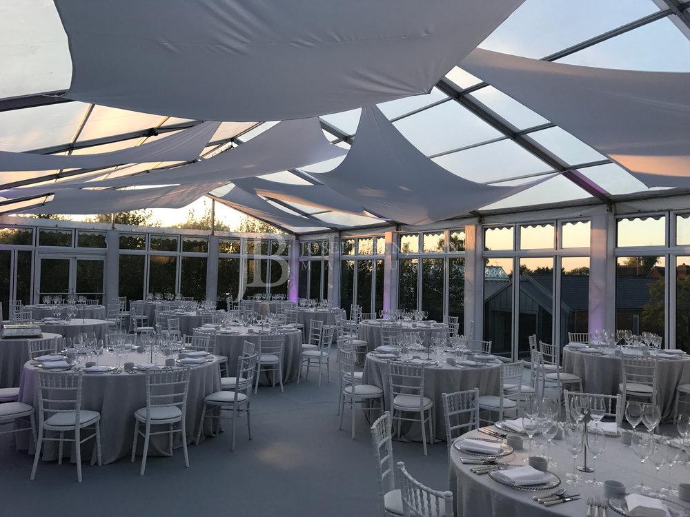 Raised Floor Wedding Marquee Interior
