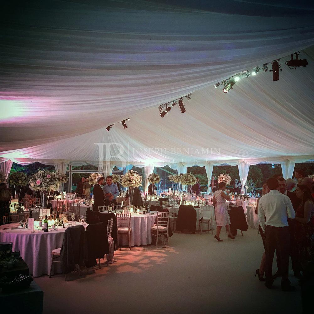 Wedding Marquee Interior Tables