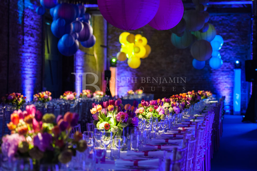 Wedding Marquee Table Setting South East England