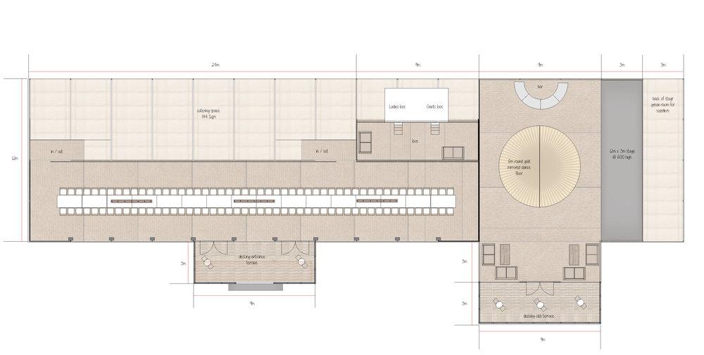 Wedding Marquee Interior Plan Designed by Joseph Benjamin Marquees
