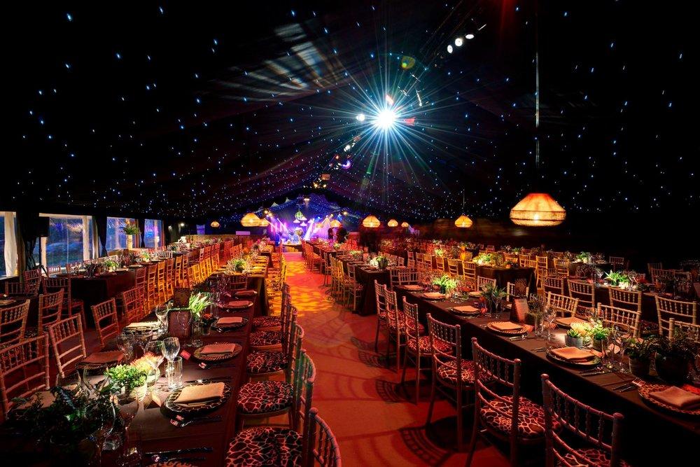 Raised Floor Marquee Dining Area from Joseph Benjamin Marquees