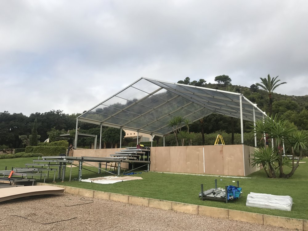 Wedding Marquee Under Construction