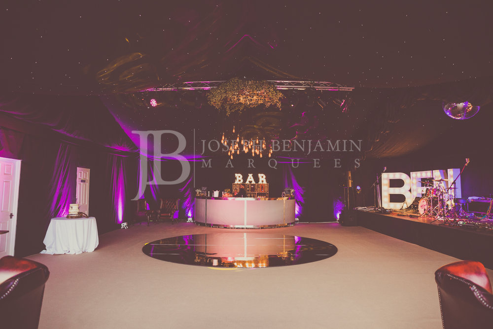 Raised Floor Wedding Marquee Hired From Joseph Benjamin Marquees