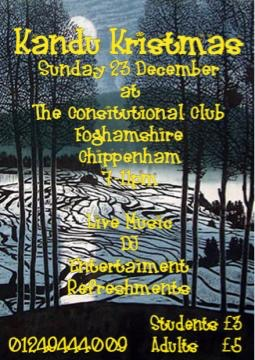 A poster for a performance of a Kandu Kristmas show