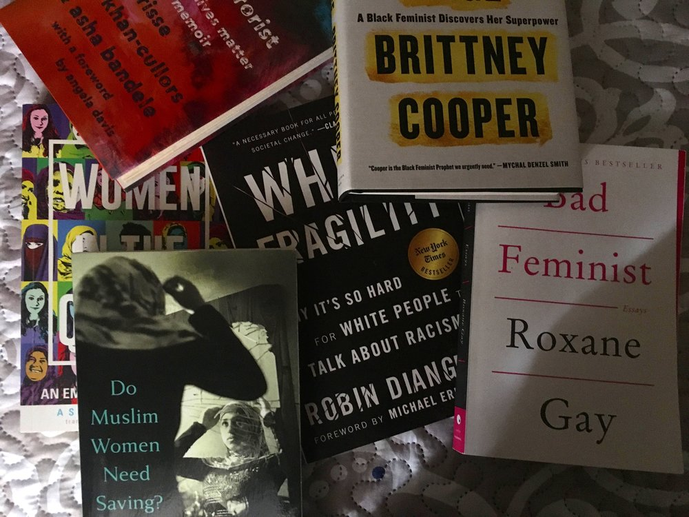 The Bookshelf - Decolonize your bookshelf with our recommended reads with books by women, people of color, LQBTQA, and religious minorities.