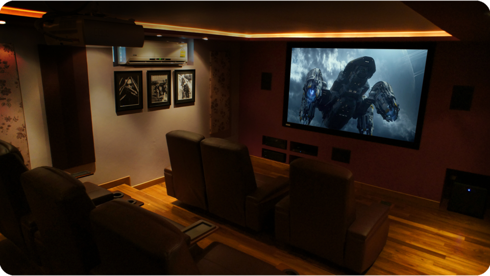 Front view of eventual Home Cinema