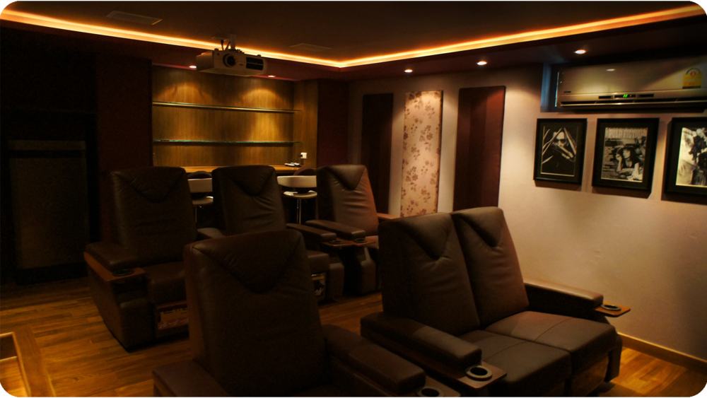Rear view of eventual Home Cinema