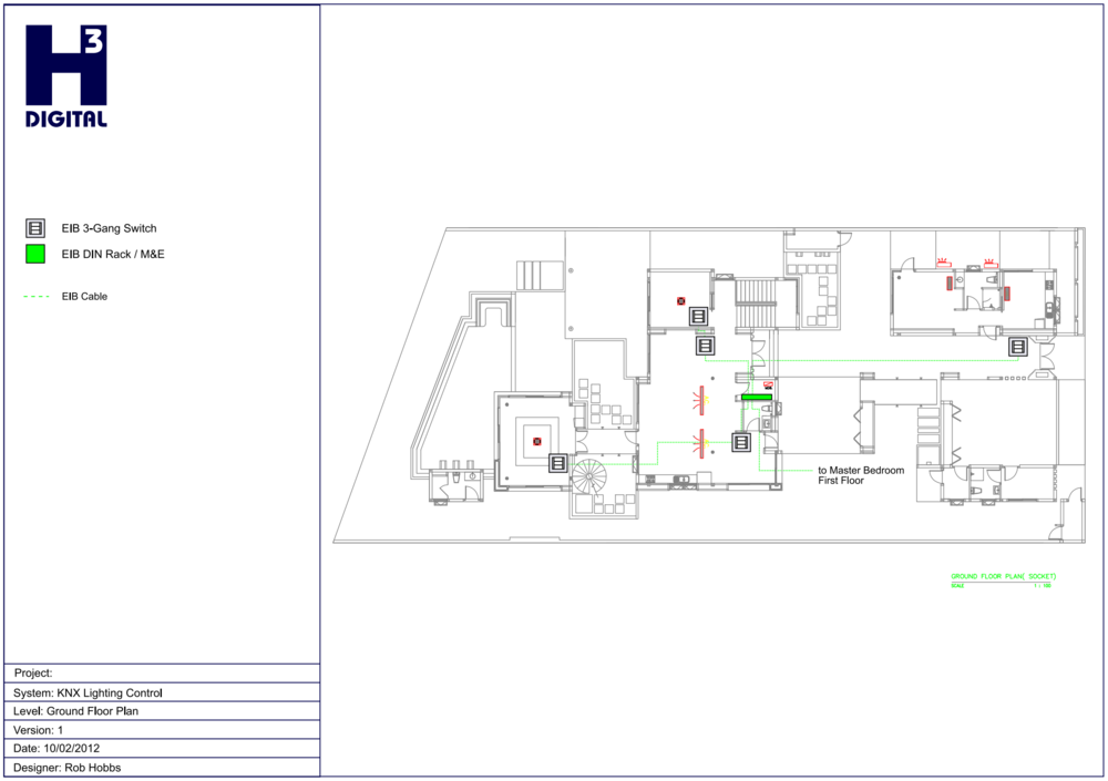 Example - Common Area Lighting control - Lower Level