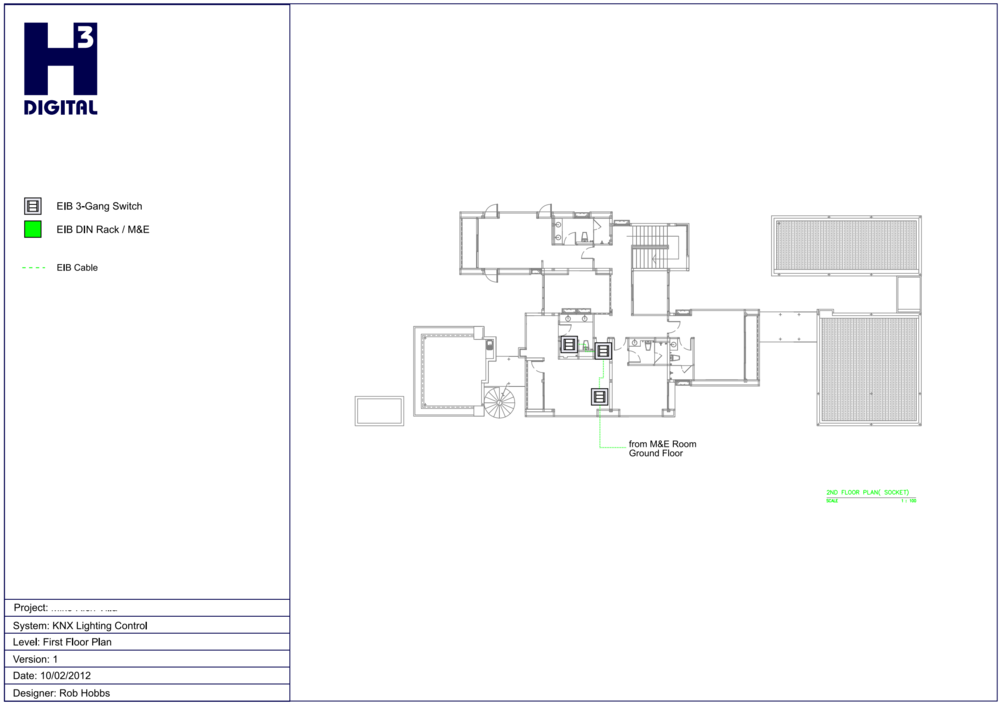 Example - Common Area Lighting control - Upper Level