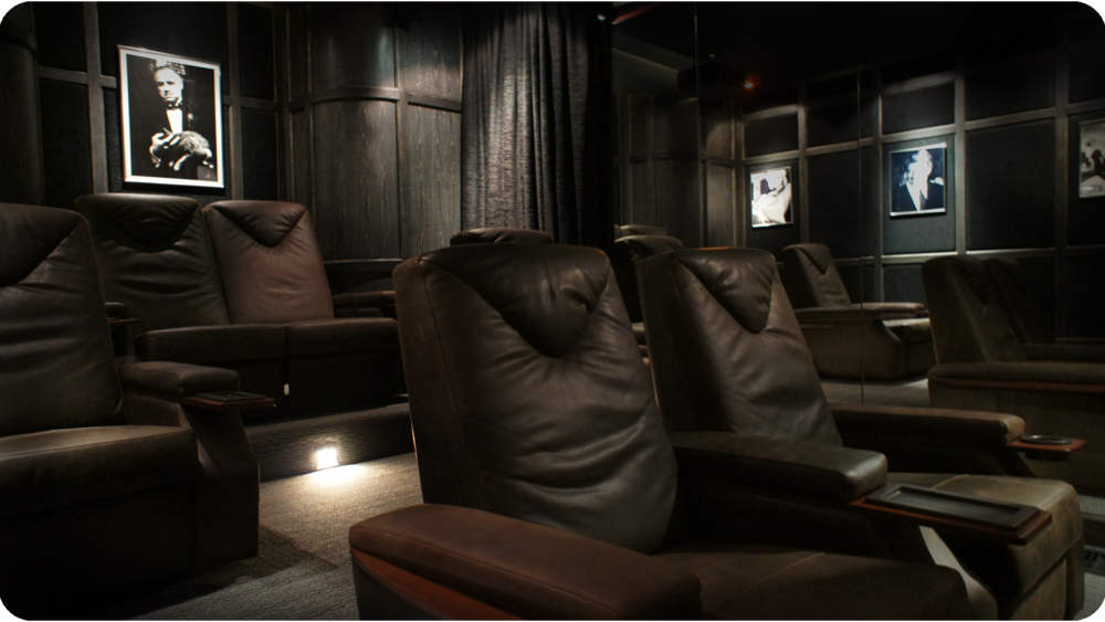 Home Theater Rear - Motorised Leather Recliners