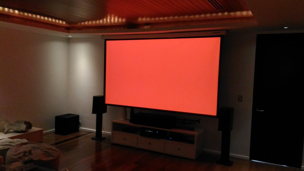Home Cinema Red levels