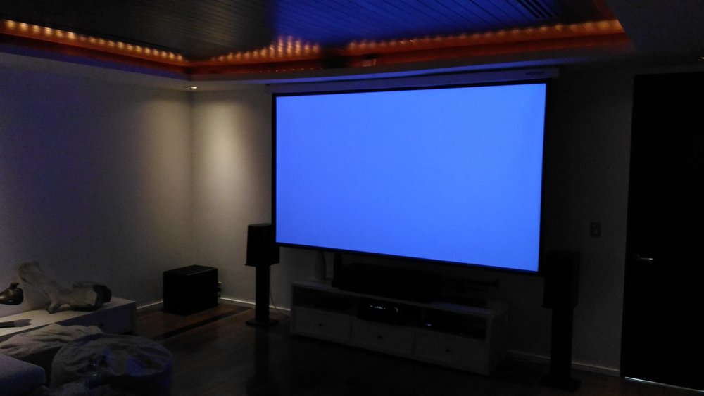 Home Cinema Blue levels