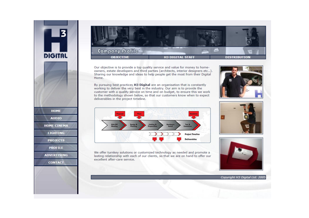 H3 Digital company profile from 2007