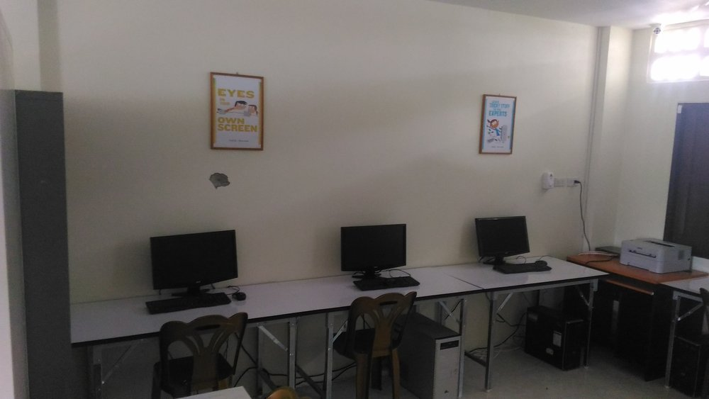 BanYa literacy centre computer room.